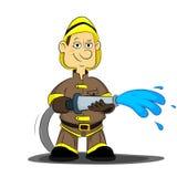 Пожарный Иллюстрация штока
