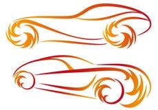 пожар автомобилей иллюстрация вектора