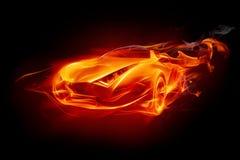 пожар автомобиля иллюстрация штока
