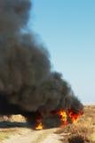 пожар автомобиля стоковые фото