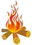 Пожар лагеря иллюстрация штока