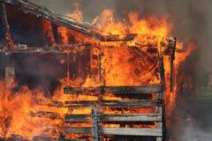 пожар амбаров Стоковое Изображение