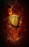 пожар барабанчика стоковое изображение