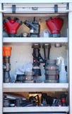 пожар бой оборудования стоковая фотография rf