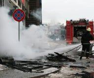 пожар бригады Стоковое Фото