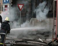 пожар бригады Стоковая Фотография