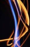 пожар бутылки над следами Стоковые Фото