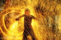 пожар влияний Стоковое фото RF
