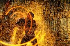 пожар влияний Стоковая Фотография