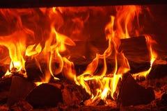 Пожар в камине стоковое фото