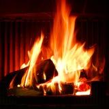 Пожар в камине Стоковое фото RF
