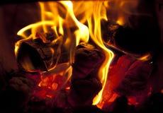 Пожар в камине Стоковое Изображение