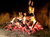 Пожар в камине Стоковые Фотографии RF