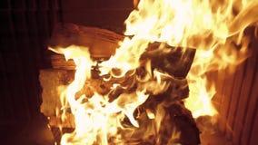 Пожар в камине сток-видео
