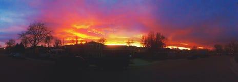 Пожар в небе Стоковые Изображения