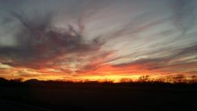 Пожар в небе Стоковое Фото