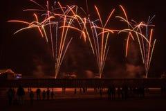 Пожар в небе Стоковые Фото