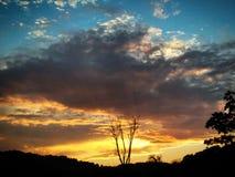 Пожар в небе Стоковое Изображение RF