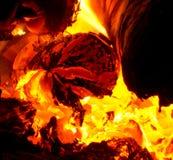 Пожар в печи Стоковое Изображение