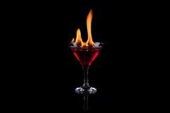 Пожар в стекле Стоковая Фотография