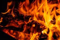 пожар горящая древесина пожара стоковая фотография