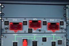 пожар двигателя переключает предупреждение Стоковые Фотографии RF