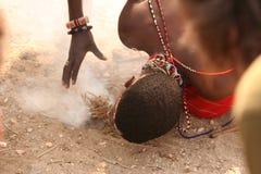 пожар делая человека Стоковое Изображение RF