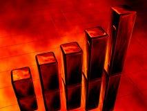 пожар диаграммы диаграммы в виде вертикальных полос 3d Стоковая Фотография RF
