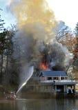 Пожар дома Стоковое Изображение RF