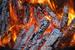 Пожар журнала Стоковые Фотографии RF