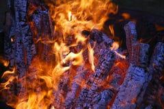 Пожар журнала Стоковая Фотография RF