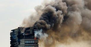пожар здания стоковая фотография