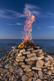 Пожар и вода стоковые изображения rf
