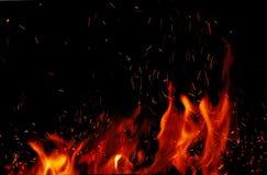 Пожар и пламена Стоковые Изображения RF