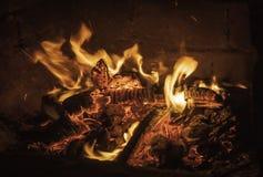 Пожар и пламя Стоковое Фото