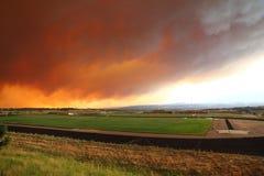 Пожар каньона Waldo в Чолорадо Спрингс Стоковые Изображения RF