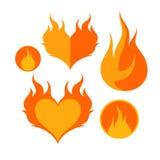 пожар Комплект значка Стоковое Изображение RF