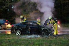 пожар конструкции автомобиля мои стоковые изображения rf