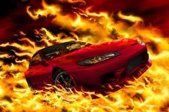 пожар конструкции автомобиля мои иллюстрация штока