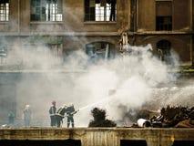 пожар крана аварии стоковые фото