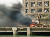 пожар крана аварии стоковые изображения rf