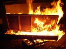пожар кровати Стоковое Фото