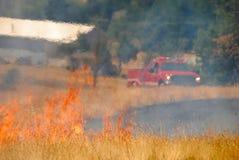 пожар крышки естественный Стоковые Изображения RF