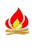 пожар лагеря Стоковая Фотография RF