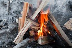 пожар лагеря Стоковые Изображения RF