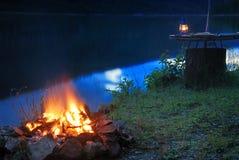 пожар лагеря Стоковое фото RF