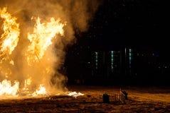 пожар напольный стоковое изображение rf