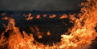 Пожар на ноче Стоковые Фото
