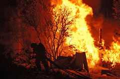Пожар ночи Стоковое Изображение