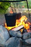 пожар обеда Стоковое Фото